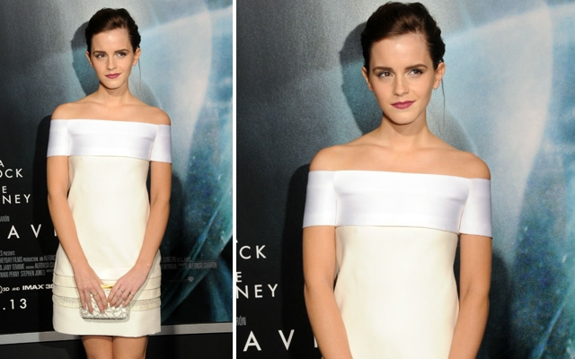 Above: Emma Watson at the 'Gravity' premiere in New York City