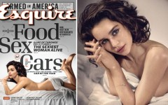 Above: Emilia Clarke is the sexiest woman alive according to Esquire