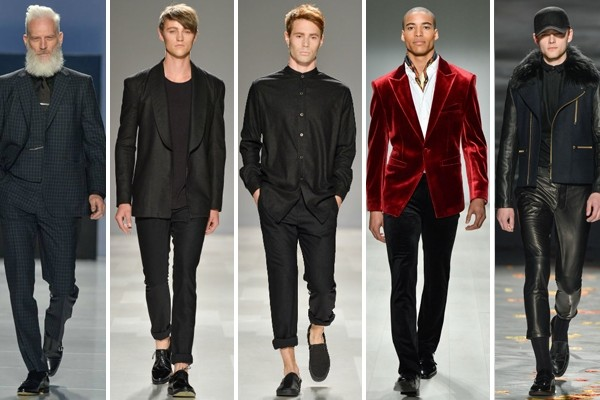 Above: Fall/Winter 2014 menswear trends coming down the runway at World MasterCard Fashion Week in Toronto (Photos: George Pimentel)