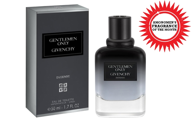Above: This month's fragrance of the month is the Givenchy's Gentlemen Only Intense
