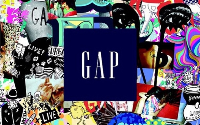 Above: 11 global artists designed T-shirts incorporating the familiar Gap logo for the 2015 Gap Remix Project Collection