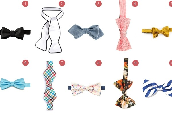 Above: 10 of our favourite bow ties to wear this summer