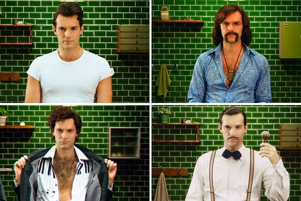 Above: Gillette chronicles the journey of one man shaving through '100 Years of Hair' in under sixty seconds
