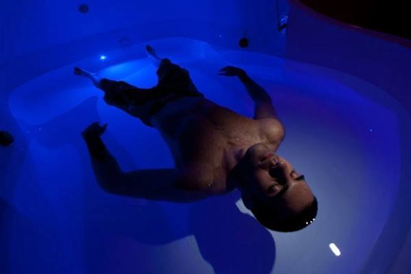 Above: Floating allows you to experience total physical and mental relaxation