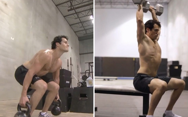 Henry Cavill shows how he got his Man Of Steel body in a new workout video (Photos: National Guard)