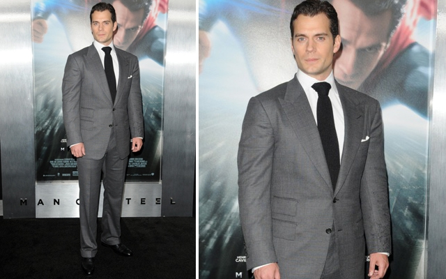 Henry Cavill Suits Up In Tom Ford For Man of Steel NYC Premiere