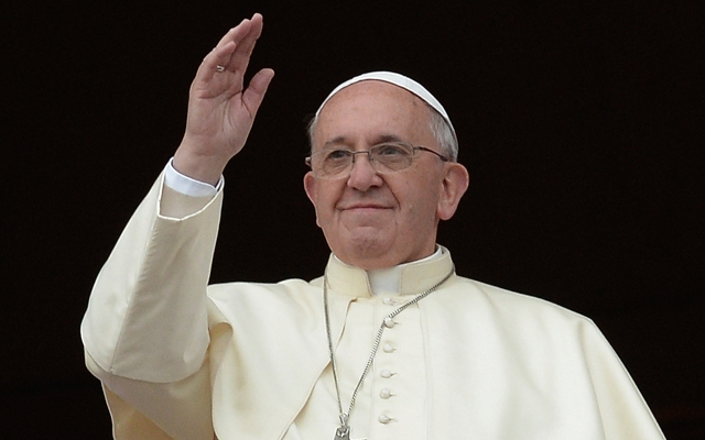 Above: Pope Francis