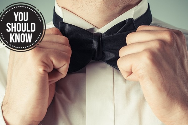 Above: Learn how to tie a proper bow tie