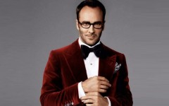 Above: Designer Tom Ford demonstrates how to properly wear velvet