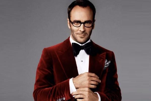 Above: Designer Tom Ford demonstrates how to properly wear velvet