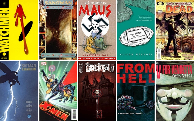 Above: A few of our favourite must-read graphic novels