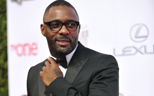 Above: Idris Elba suits up for the red carpet.