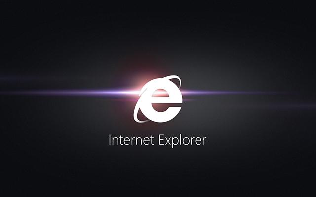 Above: Internet Explorer logo