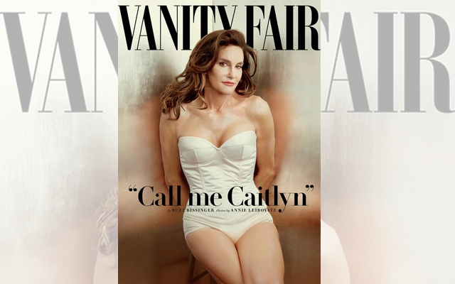 Above: Vanity Fair's July 2015 cover features the first photo of Caitlyn Jenner, formerly known as Bruce. Shot by Annie Leibovitz. (Credit: Vanity Fair)