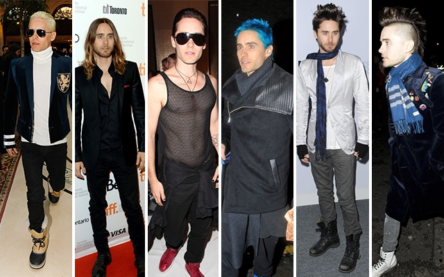 Above: A selection of Jared Leto's most memorable hairstyles