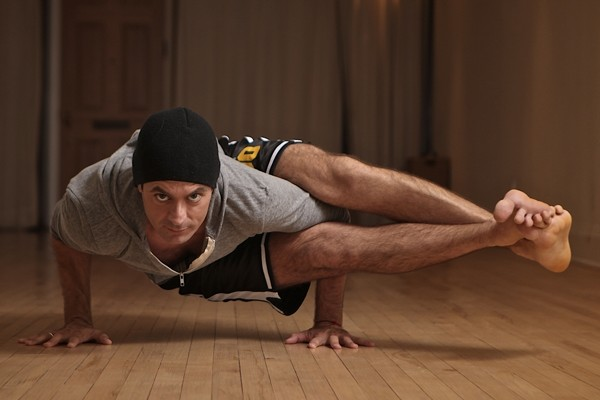 Above: Michael DeCorte creator of Jock Yoga (Photo credit: Oliver Lee and Nicole Breanne)
