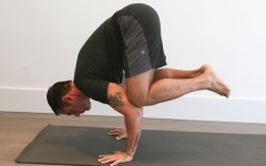 Learn how to do a 'Crane Pose' (Photo credits: Glenn Gebhardt)