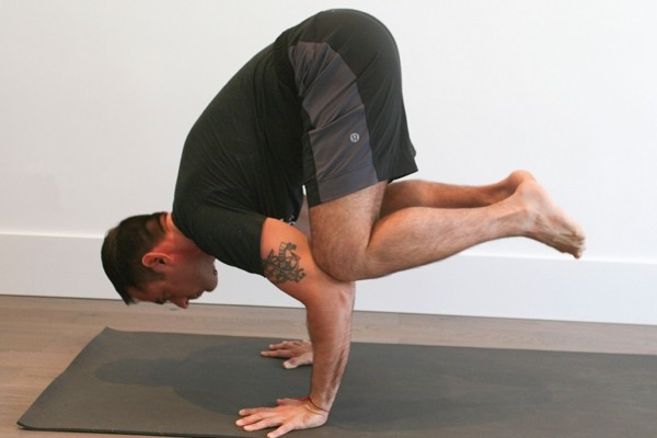 Learn how to do a 'Crane Pose' (Photo credits: Glenn Gebhardt)