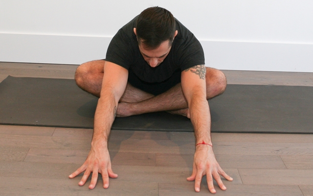 Learn a low back stretch that can be practiced anytime  (Photo credits: Glenn Gebhardt)