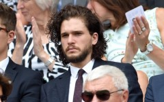 Above: Kit Harington's Jon Snow-length hair at Wimbledon sets off new speculation
