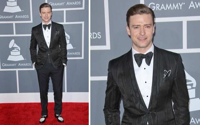 Above: Justin Timberlake on the 2013 Grammy Awards red carpet (Image credit: PR Photos)