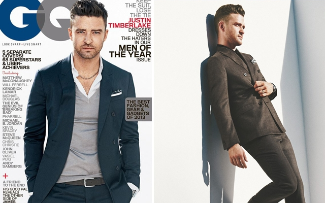 Justin Timberlake covers GQ's Men of the Year 2013 Issue