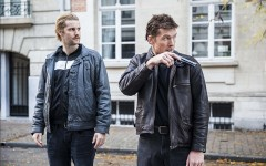 Above: Jim Sturgess and Sam Worthington as Cor van Hout and Willem Holleeder in 'Kidnapping Mr. Heineken'