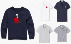 Above: The Lacoste x Peanuts fall 2015 collection
