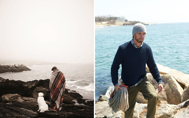 Above: Images from Lands' End Fall 2013 campaign (Courtesy of: Lands' End)