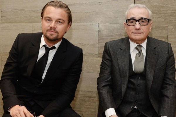 Above: Leonardo DiCaprio and Martin Scorsese are two living legends
