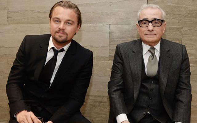 Above: Leonardo DiCaprio and Martin Scorsese are two living legends