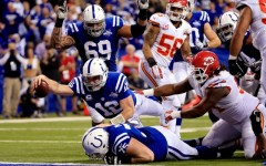 Andrew Luck's recovery of the Indianapolis Colts' own fumble for a touchdown was one of the key moments in their 45-44 comeback win over the Kansas City Chiefs, the second biggest comeback in NFL Playoff history