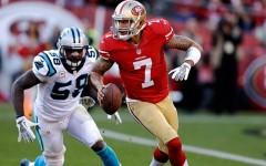 Above: Carolina Panthers v San Francisco 49ers on November 10th in San Francisco, California