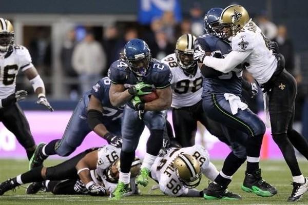 Above: New Orleans Saints v Seattle Seahawks at CenturyLink Field on December 2, 2013 in Seattle, Washington
