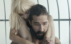"""Above: Maddie Zeigler and Shia LaBeouf star in Sia's """"Elastic Heart"""" music video"""