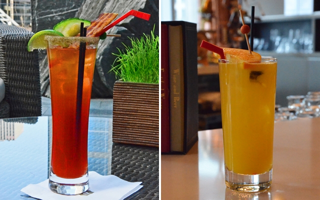 Above L-R: Power Play Cocktails The Zamboni and The 'HAT-TRICK' Breakfast Cocktail