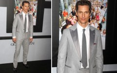 Matthew McConaughey at the 'Wolf of Wall Street' premiere in NYC