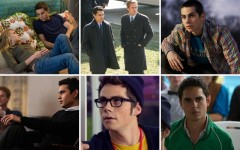 Above clockwise: Dylan O'Brien in The First Time, Max Minghella in The Ides of March, O'Brien in Teen Wolf, Minghella in The Social Network, O'Brien in The Internship and Minghella in The Internship