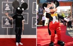 Above: Disney has launched legal action against Deadmau5 over mouse ears logo trademark