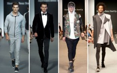 Above L-R: Mercedes-Benz Start Up semi-final runway looks from: Faded Lifestyle, HD Homme, Hip and Bone and Pedram Karimi