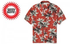 Above: Saint Laurent's head-turning palm tree print silk shirt