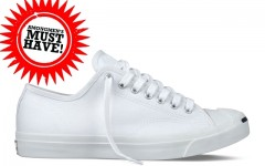 Above: Classic white Jack Purcell Converse