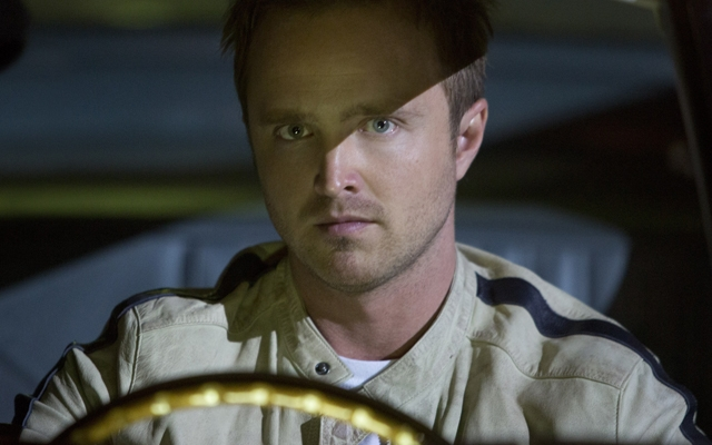 Above: Aaron Paul steps into the driver's seat as Tobey Marshall in Need For Speed