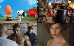 Above (clockwise): The Peanuts Movie, Love The Coopers, The Danish Girl and Creed all hit theatres this month