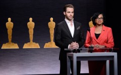 Chris Pine and Academy President Cheryl Boone Isaacs announce the nominations for the 87th Academy Awards. The 87th Annual Academy Awards will take place on Sunday, February 22, 2015 at the Dolby Theatre in Los Angeles (Photo by Dan Steinberg/Invision/AP)