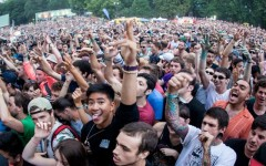 Above: Fans at last year's 'Osheaga' festival in Montreal, QC