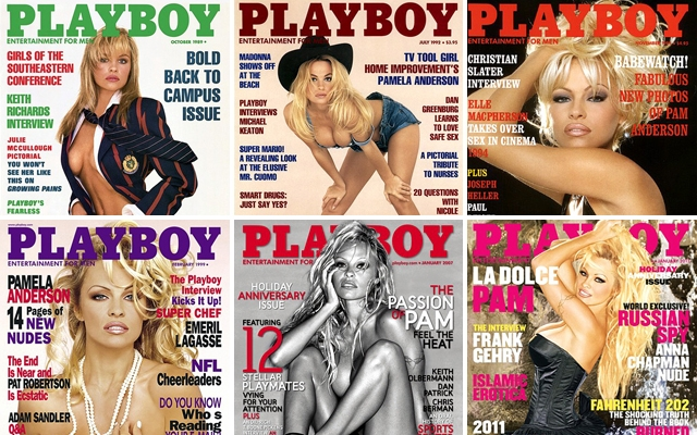 Pam Anderson's Playboy covers (Credit: Playboy)
