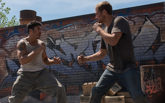Above: David Belle and Paul Walker star in 'Brick Mansions', in theatres April 25th.