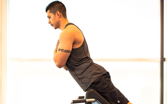 Learn how to perform the 45 Degree Back Extension (Photos by: Timothy Flynn - Dearhunter Photography)