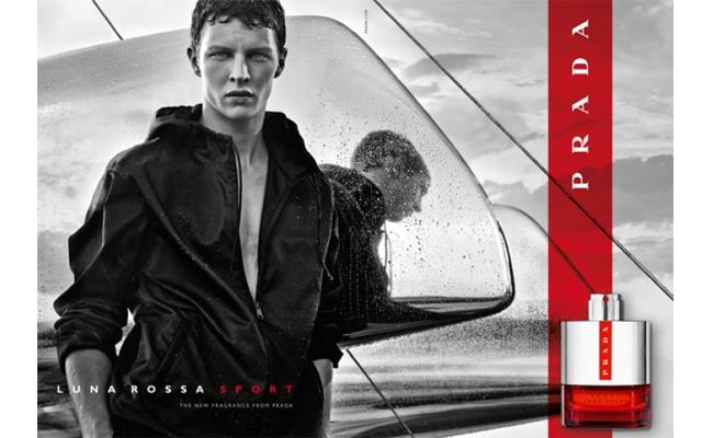 Above: German model Tim Schuhmacher stars in the Prada Luna Rossa Sport ad campign, shot by renowned fashion photographer Craig McDean